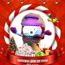 2019 New Christmas Gift For Children The Lighted Toys Bracelets Noel Ornaments Snow Santa Old Bear Elk Circle