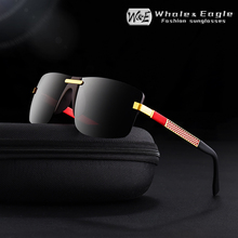 W&E Men Rimless Sunglasses Aluminum-magnesium Alloy Frame Polarized Gray UV400 Lens Womans Brand Design Fashion Cool