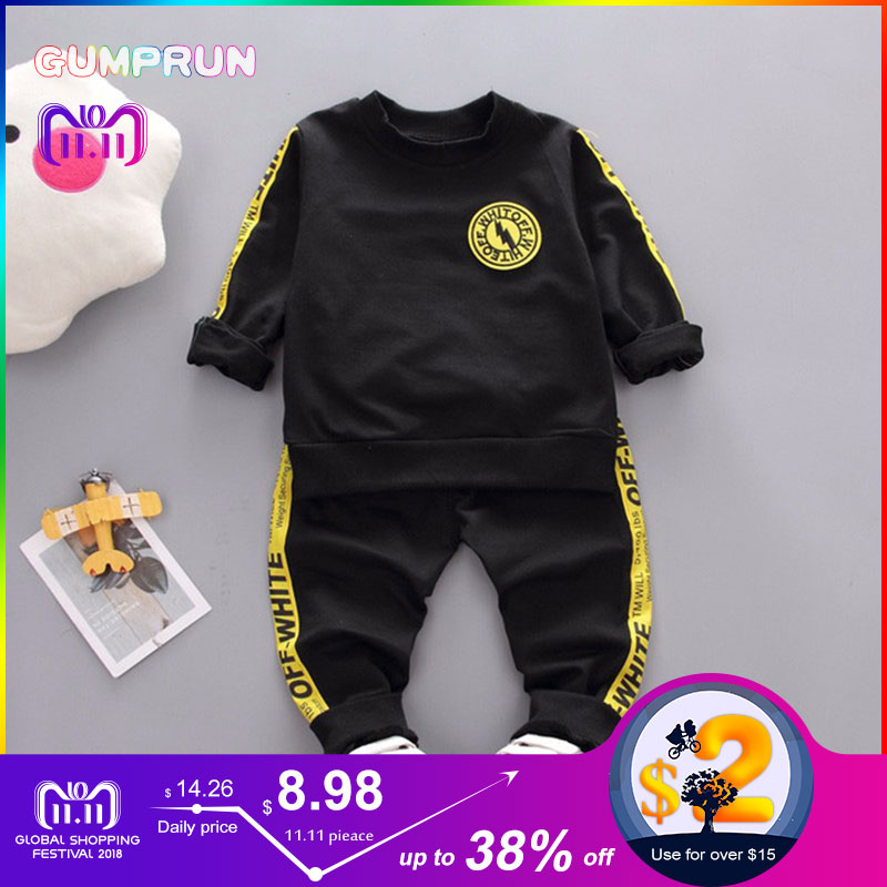 Autumn Kids Clothes Lightning Letter Print Boy's clothing Set Casual long-sleeve Children Clothing Girl Winter Clothes For Kids kids autumn clothes fashion letter printed boys t shirt set casual children clothing girl winter clothes for kids baby clothing