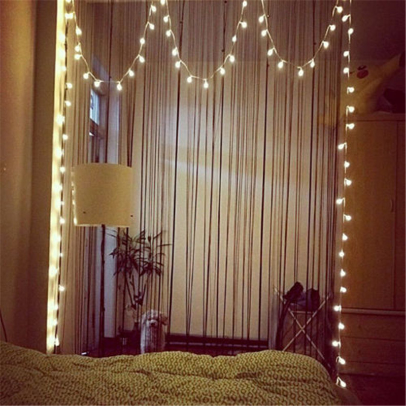 2018 new year 3m 6m 10m led star string lights fairy garland waterproof for christmas wedding home decoration battery powered 1.5M 3M 6M 10M Fairy Garland LED Ball String Lights Waterproof For Christmas Tree Wedding Home Indoor Decoration Battery Powered