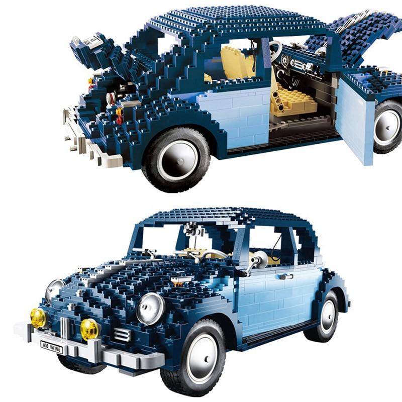 LEPIN 21014 1707Pcs Technic Classic Series UCS VW Beetle Car Set Educational Building Blocks Bricks Toys Model 10187 lepin 21014 the ultimate beetle building bricks blocks toys for children boys game model car gift compatible with bela 10187