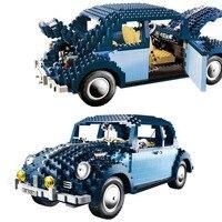 LEPIN 21014 1707Pcs Technic Classic Series UCS VW Beetle Car Set Educational Building Blocks Bricks Toys