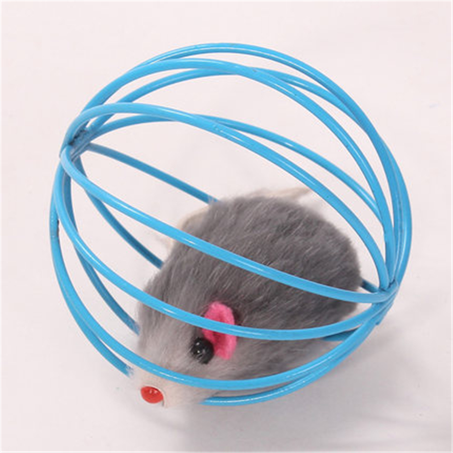 False Mouse Trap Cage Cats Toy Pet Interactive Products Kitten Play Pets Shop Game Gatos Fun Cats Toys False Mouse Cute DDMYXX8