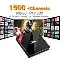 S912 H96 IPTV Europa Iptv Android Set Top Box Amlogic 3G 32G H.265 IUDTV 1700 Francês Turco Italiano NOS H96pro IPTV TV receptor