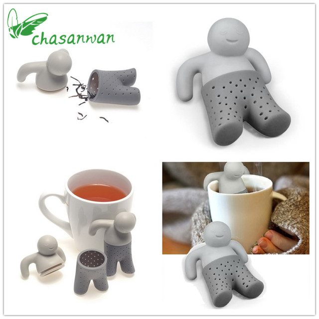 1Pcs Kitchen Accessories Teapot Cute for Kitchen Mr Tea Infuser Tea Strainer Coffee & Tea Sets Silicone Mr Tea Kitchen Goods