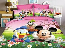 Cartoon cut Mouse Spongebob Bedding Set America cars spiderman 2/3pcs Duvet Cover Sets Soft Polyester Bed Linen Flat Sheet