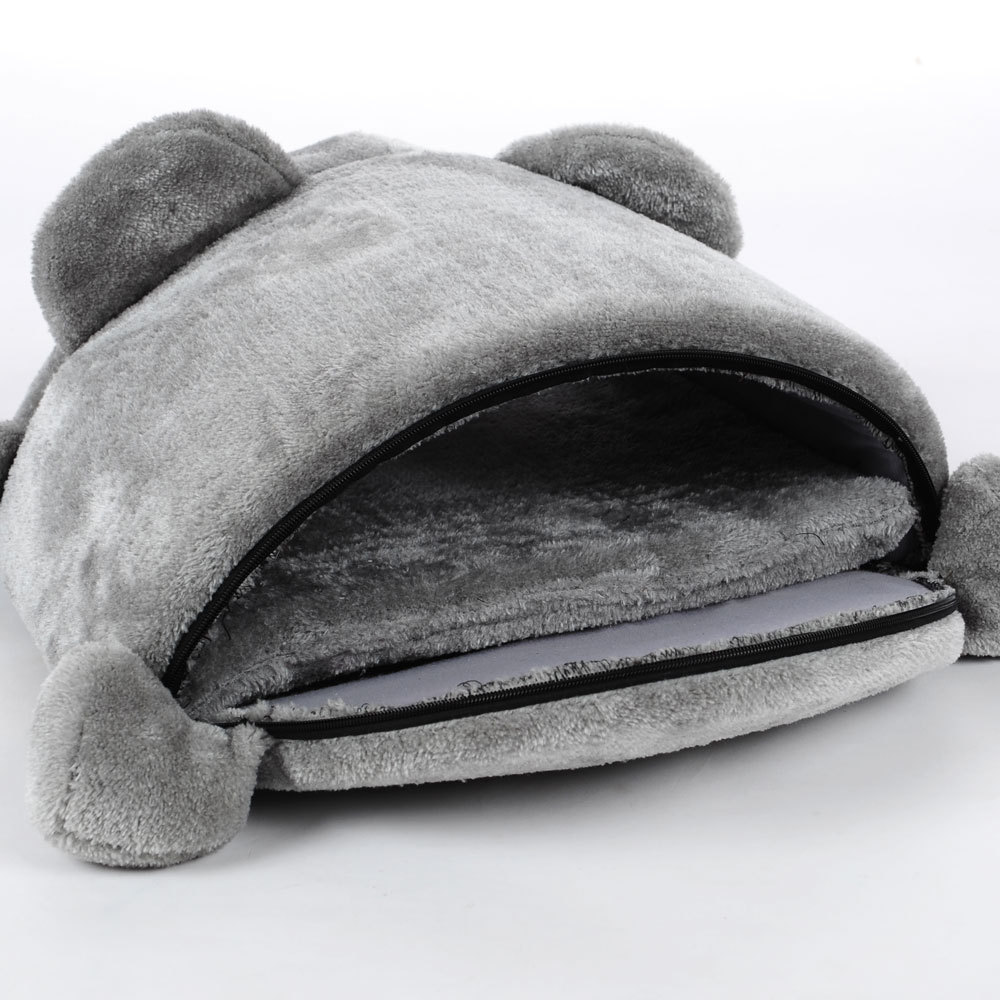 HELLOMOON New fashion fleece pet bed soft breathable Sprouting gray big mouse for small medium dogs pet dog beds cat house in Houses Kennels Pens from Home Garden