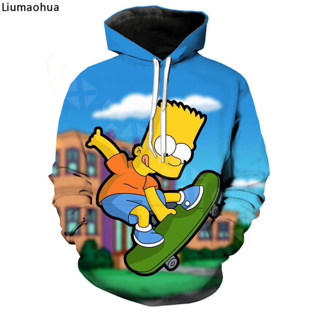 HX Casual Funny T Shirt The Simpsons 3D Printed Hip Hop Short Sleeve Men Women Harajuku Hoodies Cartoon Sweatshirts Tops A386