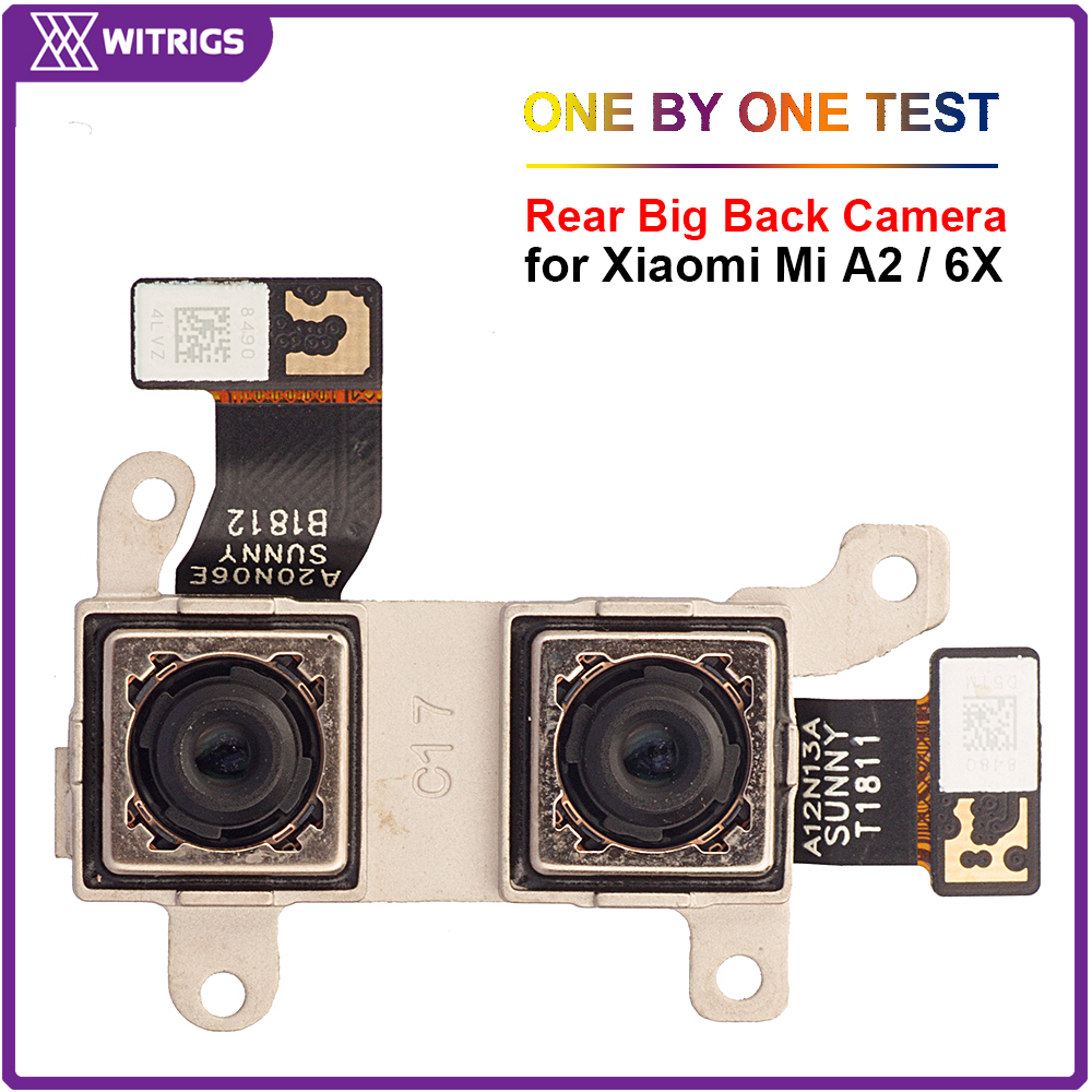 Witrigs Rear Camera For Xiaomi Mi A2 6X 100% Original Dual Back Camera