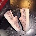 Mocassins elegantes Sapatos Mulheres Slipony Rendas dedo do pé Redondo Sapatos Casuais Plataforma do Salto Do Sapato Senhoras Da mulher Da Forma Plana Primavera Tamanho Grande 44