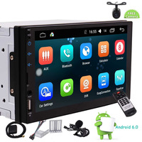 D Mirror Link Player 1GB DDR3 + 16GB NAND Memory Bluetooth 1080P Video Player Universal Double 2 Din Android 6.0 In Dash Car GPS