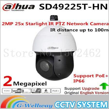 Dahua 2MP 25x Starlight IR PTZ Network Camera SD49225T-HN ,free DHL shipping