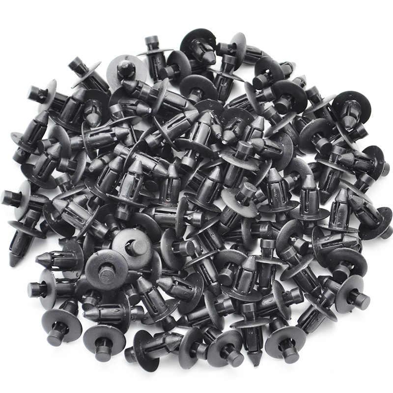 100 個自動ファスナー 7 ミリメートル穴ドアトリムパネルプラスチッククリップリベット用トヨタレクサス車のフェンダーバンパー車のスタイリング