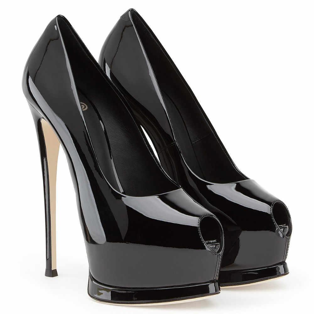 7ced6d74 ... Mujeres Sexy tacones altos plataforma bombas tacones zapatos de la boda  vestido de noche de fiesta ...