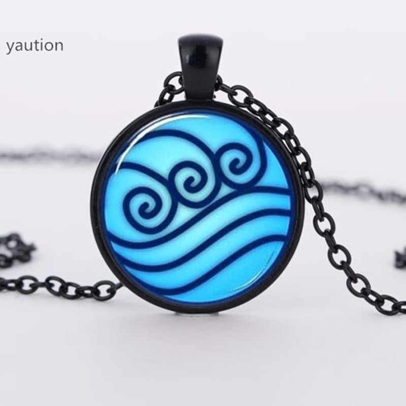 Brand Avatar the Last Airbender necklace, Legend of Korra Water Tribe Glass Pendant Jewelry silver pendants for men