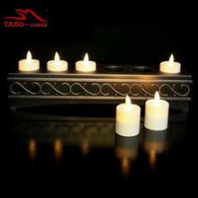 Rechargeable Luminara Votive Tealight Candle 6 Set Ivory Luminara Flameless Candles with Antique Bronze Recharging Remote