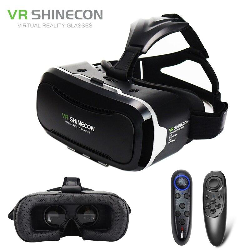 Shinecon vr 2.0 google cartón gafas 3d gafas de realidad virtual auricular inmer