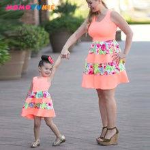 Платье для мамы и дочки в полоску детей родителей