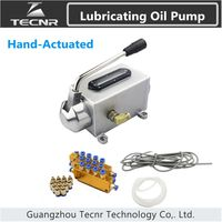 One Set Lubricating Oil Pump Hand Actuated Cnc Router Electromagnetic Lubrication Pump Lubricator Stainless Steel Body