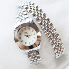 Best selling watch high-end linked list without digital scale rhinestones gold silver rose female table Fashion & Casual