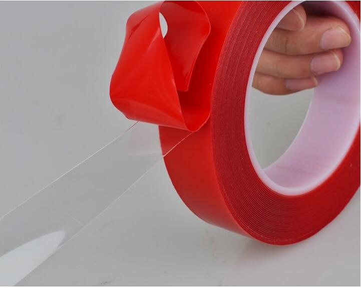 Fuerte 1mm 2mm doble cara cinta de espuma acr lica - Cinta adhesiva doble cara transparente ...