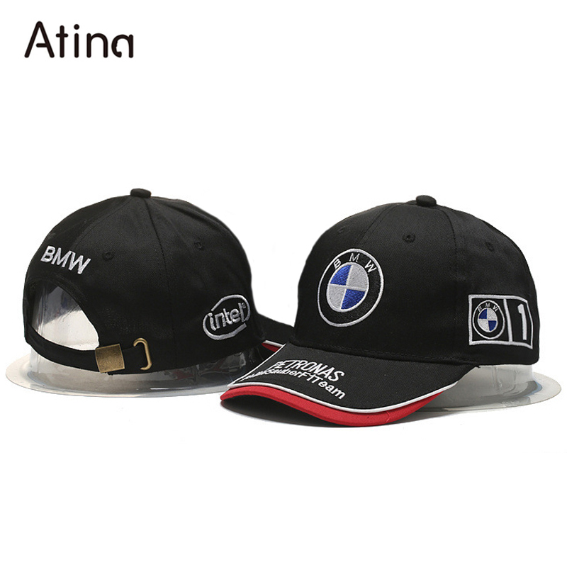 embroidery flat baseball hat for bmw logo