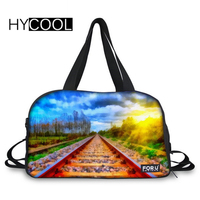 HYCOOL Railway Landscape Printing Women's Sports Bag For Gym Training Multifunction Fitness Bags Bolso Deportivo Mujer Yoga Bag