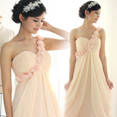 s 2016 new arrival stock maternity plus size bridal gown  evening dress long pink lace one shoulder flower 1169
