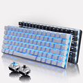 Ajazz ak33 geek backligt mecânica teclado com retroiluminado led interruptor de luz negra azul gaming teclados para tablet pc desktop