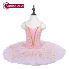 Kids White Ballet Tutu Swan Performance Stage Wear Girls Classical Dance Competition Costumes Adult Skirt