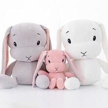 Kawaii Bunny Plysch leksaker Lycklig kanin Ty mössa Boos Mjukt leksak Baby kompis Sängsäng Kuddar dukar leksaker för barn gåva