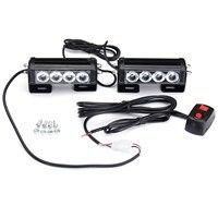 Safurance Emergency Strobe Light Bar 8 LED Dash Flash Warning Lamp Traffic Light Roadway Safety