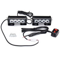 Safurance Emergency Strobe Light Bar 8 LED Dash Flash Warning Lamp Traffic Light Roadway Safety