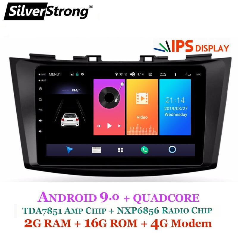 SilverStrong 4G SIM Modem Car GPS Radio IPS Android9 0 For Maruti SUZUKI SWIFT VDI VXI