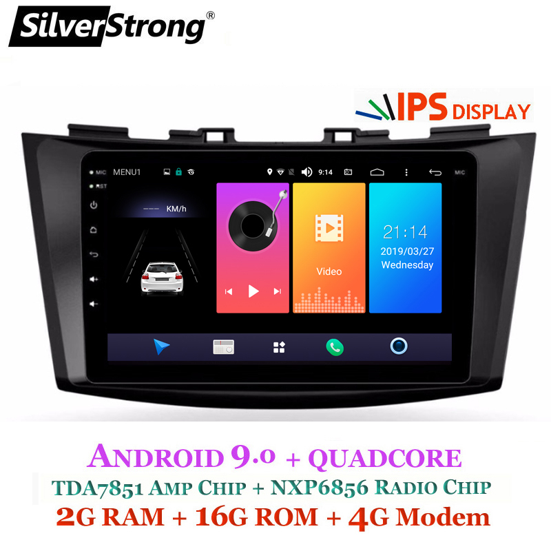 Maruti Swift Now To Have Amt Automatic Transmission In Top: SilverStrong 4G SIM Modem Car GPS Radio IPS Android9.0 For