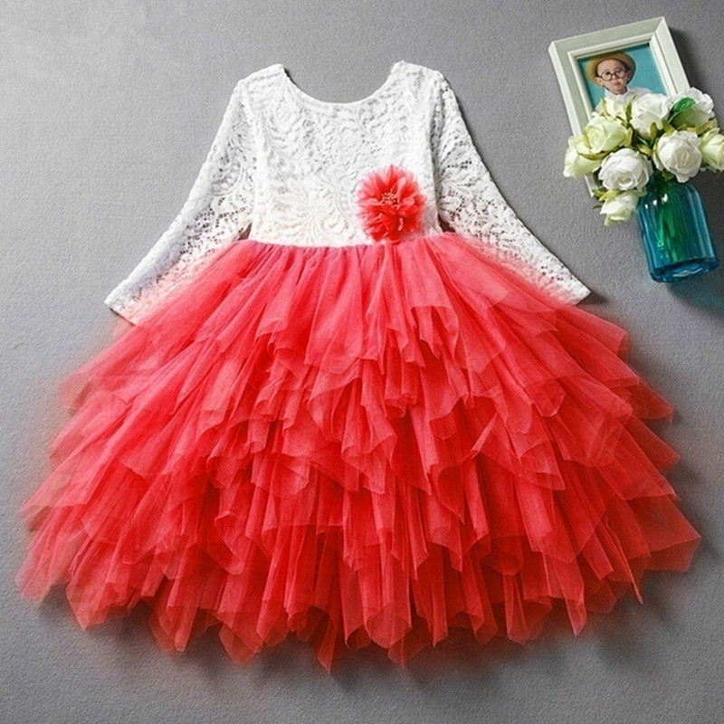 HTB1XP4vWXzqK1RjSZFoq6zfcXXal Children Girls Embroidery Clothing Wedding Evening Flower Girl Dress Princess Party Pageant Lace tulle Gown Kid Girls Clothes
