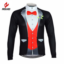 2016 ARSUXEO Men Cycling Jersey Bike Bicycle Long Sleeves Jersey Mountaion Clothing MTB Jersey Shirts T Shirt ZLS09