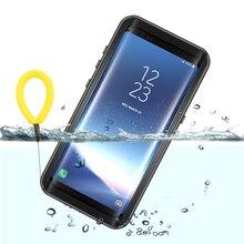 حقيقي مقاوم للماء الحال بالنسبة لسامسونج S8 S9 زائد نوت 8 9 10 S10 5G في الهواء الطلق المياه برهان الصيف السباحة غطاء مقاوم للصدمات الحماية الكاملة