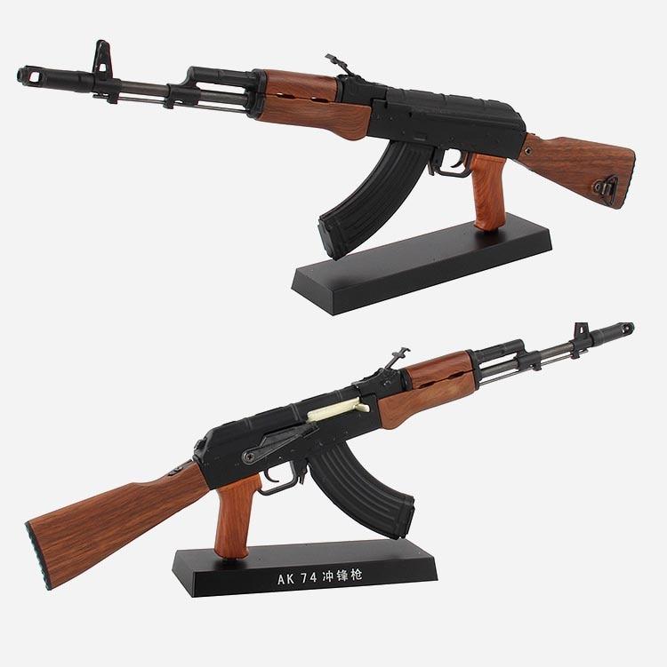 1:3 Alloy AK74 Gun Model AK 47 Assault Rifle Can Not Shoot Ornament Collection Gift For Boy