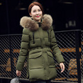 Good quality! Womens Winter Jackets And Coats 2016 Women's Parkas Thick Warm Faux Fur Collar Hooded Ladies Jacket Female outwear