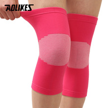 bc90418eed AOLIKES 1 Pair Cycling Running Knee Brace Elastic Sport Knee Protector Knee  Pads Compression Sleeves For