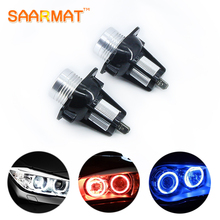 2X  6W For BMW E60 E61 E63 E64 E70 X5 E71 X6 E82 E87 E89 Z4 E90 E91 E92 M3 LED Car-styling Angel Eyes light Headlight Lamp Blue