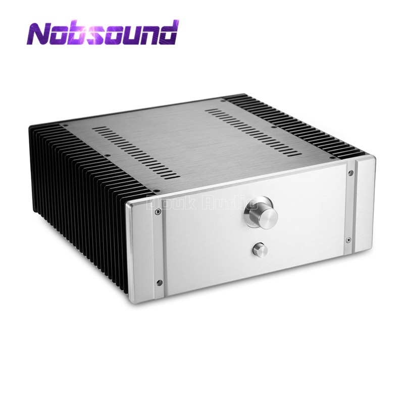 Nobsound Silver Aluminum Chassis Tube Amplifier Case Audio Enclosure DIY nobsound high end aluminum chassis power amplifier case audio diy cabinet silver black