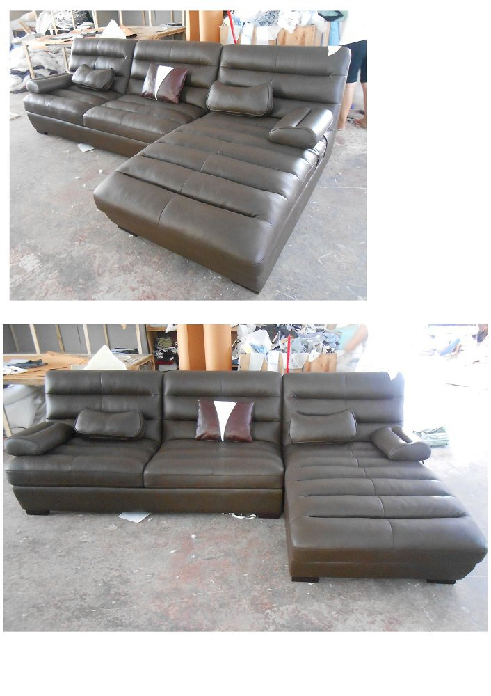 Lizz Furniture Leather Curve Sofa Leather corner L shape sofa Special design