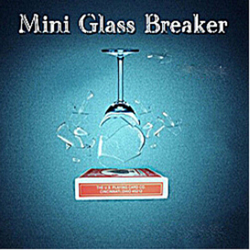 Mini Glass Breaker Magic Tricks Magician Glass Breaking Magia Device Stage Illusions Accessories Gimmick Props don t tell lie spirit bell remote controlled magic tricks accessories illusions mentalism stage gimmick wholesale