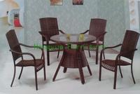 Brown Rattan Garden Furniture Garden Table And Chairs