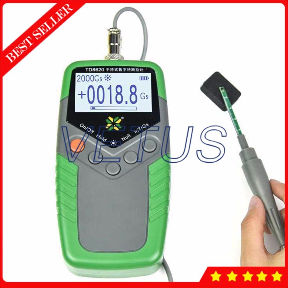 TD8620 Permanent Magnet Gauss Meter Gaussmeter Handheld Digital Tesla Meter with Surface Magnetic Field Tester 5