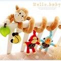Счастливый Обезьяна детская кровать детская кровать Висит Колокол Новорожденного Развивающие Погремушки/Мобильные игрушки для 3-12 месяцев Плюшевые игрушки