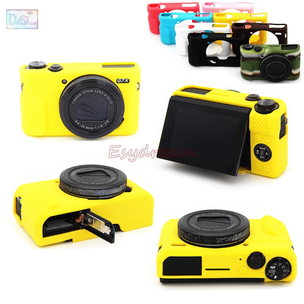 Rubber Silicon Case Body Cover Protector Soft Frame Housign for Canon G7X Mark 2 G7X II G7X2 G7XII Camera