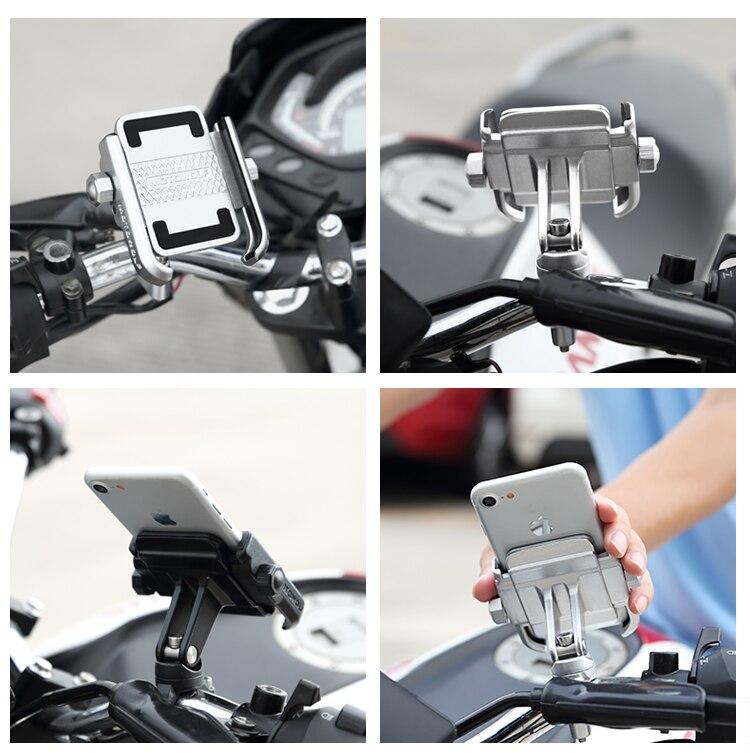 Bracket Monopod Motorcycle Parts Handlebar Mount Holder Telescopic Phone Holder For Honda Yamaha Cellphone GPS in Tripods from Consumer Electronics